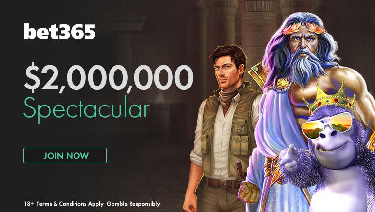 العرض الترويجي الأضخم، أكثر من 60.000 مكافأة يُمكنك الفوز بها في كازينو Bet365 بقيمة 2.000.000 دولار أمريكي