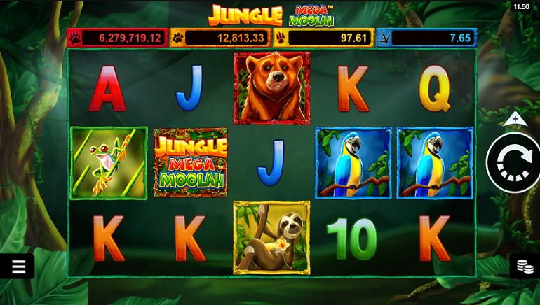 تقييم لعبة سلوتس: لعبة Jungle Mega Moolah من Microgaming