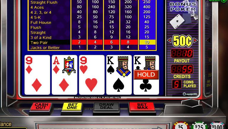 Video Poker مجاني مباشر